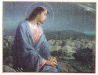 Jesus Overlooking the City Poster