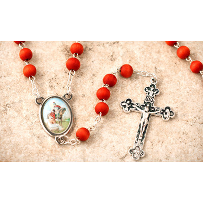 Wood Bead Rose Scented St. Martin Caballero Rosary