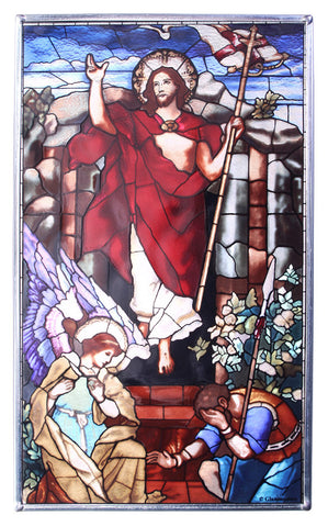 Resurrection Victorious Genuine Stained Glass