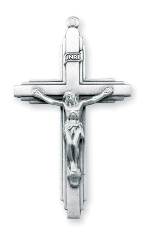 Sterling Triple Level Crucifix