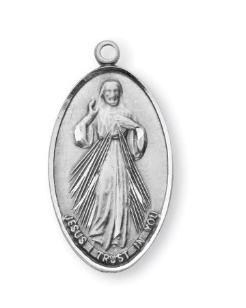 Divine Mercy/St. Faustina Sterling Silver Medal