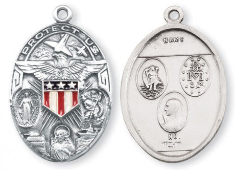 Sterling Silver Military Medal