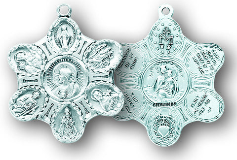 Sterling Silver  7-Way Medal