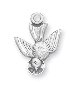 Holy Spirit Sterling Silver Medal