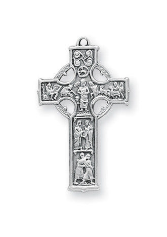 Sterling Irish Celtic Cross Pendant