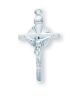 Sterling Sun Burst Crucifix