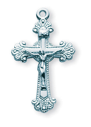 Sterling Fancy Engraved Crucifix