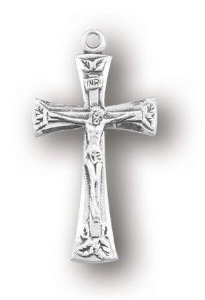 Sterling Flare Tipped Crucifix