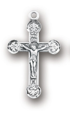 Sterling Floret Tipped Crucifix