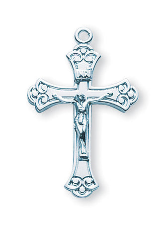 Sterling Swirled Crucifix