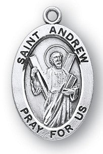 Saint Andrew Oval Sterling Silver Medal