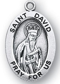 Saint David Oval Sterling Silver Medal