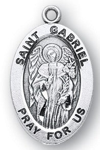 Saint Gabriel Oval Sterling Silver Medal
