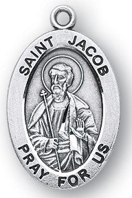Saint Jacob Oval Sterling Silver Medal