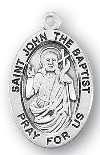Saint John the Baptist Oval Sterling Silver Medal