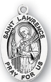 Saint Lawrence Oval Sterling Silver Medal