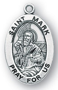 Saint Mark Oval Sterling Silver Medal