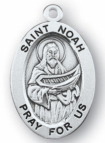 St. Noah Sterling Medal - Discount Catholic Store