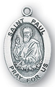 Saint Paul Oval Sterling Silver Medal