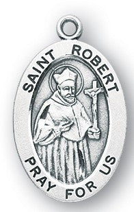 Saint Robert Oval Sterling Silver Medal