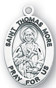 Saint Thomas Oval Sterling Silver  Medal