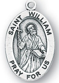 Saint William Oval Sterling Silver Medal