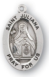 Saint Juliana Oval Sterling Silver Medal