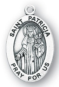 Saint Patricia Sterling Silver Medal