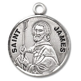 Saint James Sterling Silver Medal
