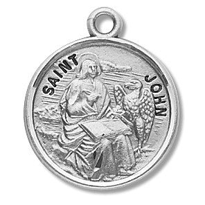 Saint John the Evangelist Sterling Silver Medal