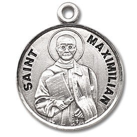 Saint Maximilian Sterling Silver Medal
