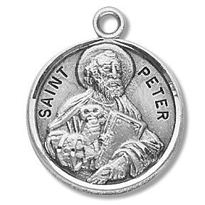 Saint Peter Sterling Silver Medal