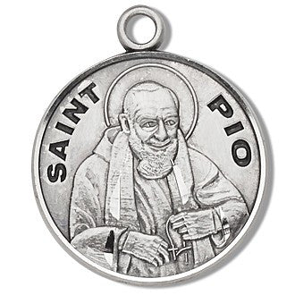 Saint Pio Sterling Silver Medal