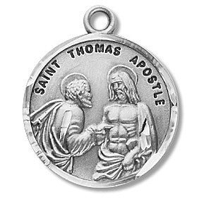 Saint Thomas the Apostle Sterling Silver  Medal