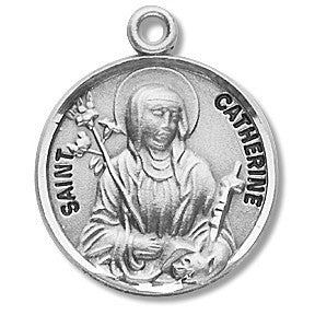 Saint Catherine Sterling Silver Medal