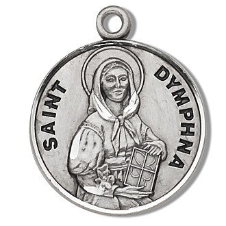 Saint Dymphna Sterling Silver Medal