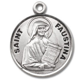 Saint Faustina Sterling Silver Medal
