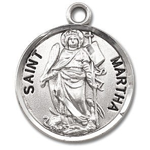 Saint Martha Sterling Silver Medal