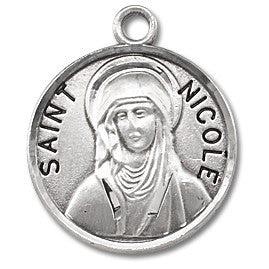 Saint Nicole Sterling Silver Medal