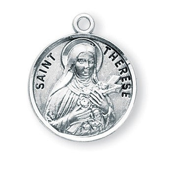 Saint Therese Sterling Silver Medal