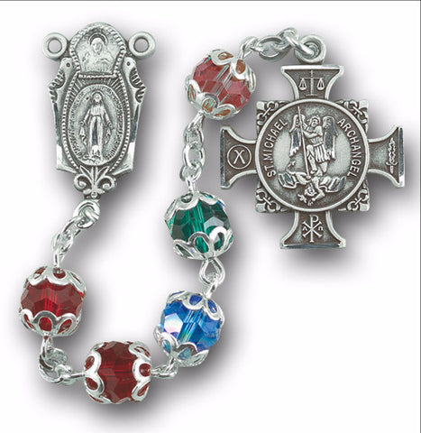 Saint Michael the Archangel Multi Color Chaplet Rosary
