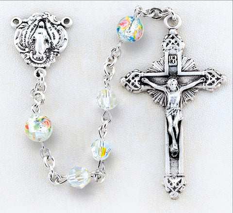 Swarovski Crystal and Murano Glass Rosary