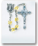 Yellow Swarovski Crystal Butterfly Rosary