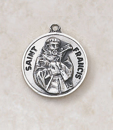 St. Francis Sterling Silver Medal
