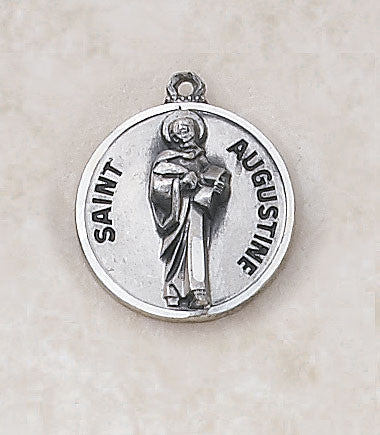 St. Augustine Sterling Silver Medal