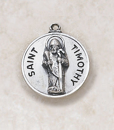 St. Timothy Sterling Silver Medal