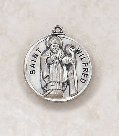 St. Wilfred Sterling Silver Medal