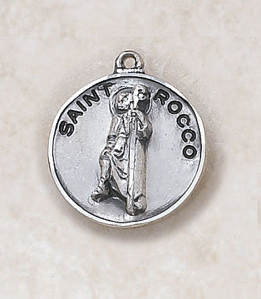 St. Rocco Sterling Silver Medal