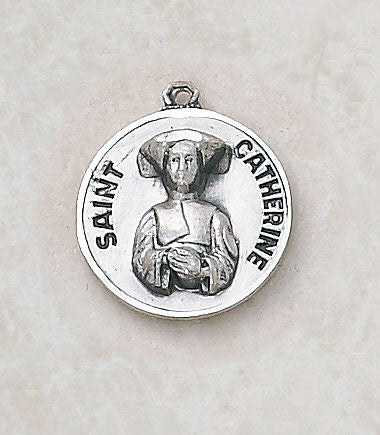 St. Catherine Sterling Silver Medal