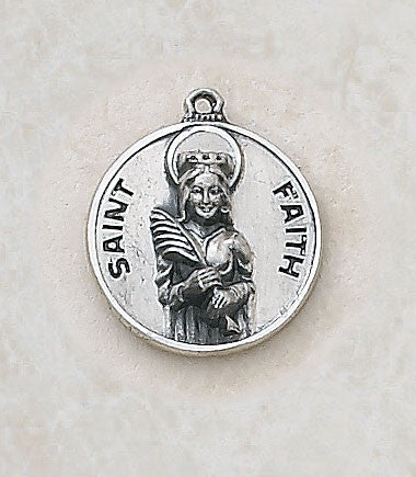 St. Faith Sterling Silver Medal